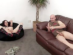 Kinky girl watches as horny couple fuck