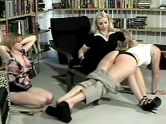 Femdom caning and spanking for soft asses