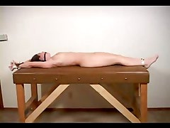 Naked Girl Tied Up On The Exam Table