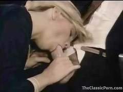 Stewardess fucked on a plane