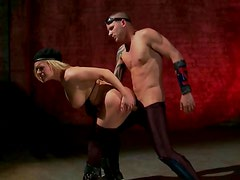 A Deadly Facial Cumshot Sends Blonde Fighter Krissy Lynn To The Ground