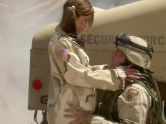 Outdoors Uniformed Sex By The Humvee In a Mission