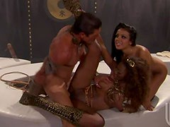 Big Dong Has An Interracial Threesome With Hot Babes