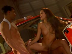 Latina Has A Wild Threesome With Big Cocks On A Low-Rider