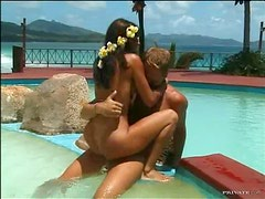 Exotic Brunette Gets An Outdoor Fuck From A Big Dong