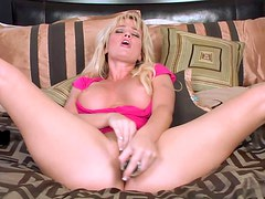 Busty Blonde Milf Masturbates With A Sex Toy