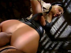Blonde Bitch Has Anal Sex With A Big Cock