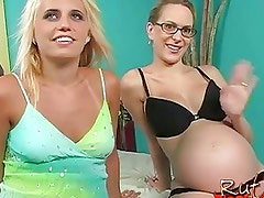 Cum Eating Blonde Whore And Pregnant Slut For Monster Black Cock