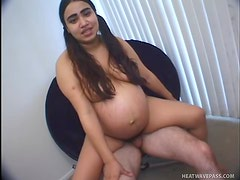 Fat busty latina whore gets screwed on the sofa