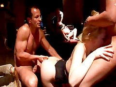 Anette Schwarz gangbanged in a club...