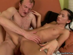 Diana Has An Amazing Ride On Top On An Old Man's Hard Cock