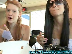 Tamara and Lacie public nudity teen gorgeous