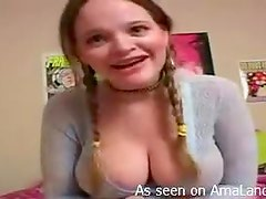 Busty Blonde Titty fucks A Big Cock With Her Mouthwatering Jugs