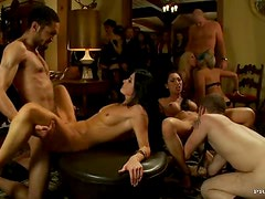 Business Meeting Turns Into A Hardcore Group Sex With Hot Babes