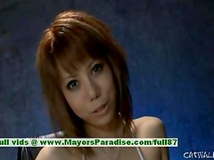Rui Shiina innocent lovely chinese girl fondles her pussy