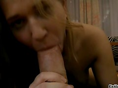 Horny whore Linda Ray shoves rocco's corpulent schlong down her throat