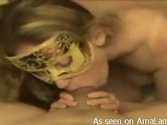 Masked Hottie Gives One Hell Of A Blowjob