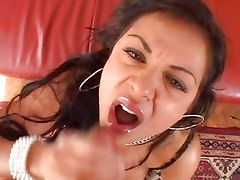 Cory Everson gets her face splattered with hot cum