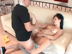 He has a big cock to fuck that pretty girl