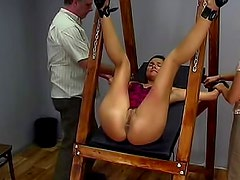 Tied and frisky cutie is showing her fresh pussy to her babe