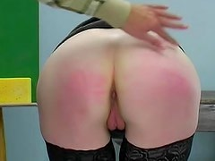 Hot slave in black stockings wants to be punished by her babe