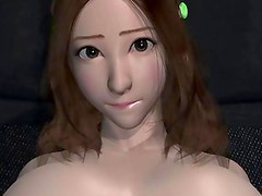 Lovely animated with round breasts