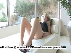 Alanna stunning adorable blonde girl riding huge toy
