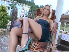 Anal Strapon Sex Outdoors With Two Hot Blondes
