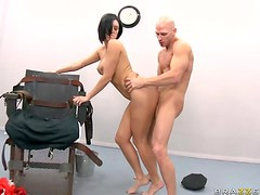 Big Assed Brunette Dylan Ryder Gets Her Deep Throat and Pussy Fucked