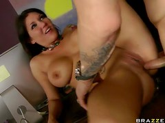 Tattooed Anal Slut Claire Dames Goes Ass To Mouth and Gets Facialized