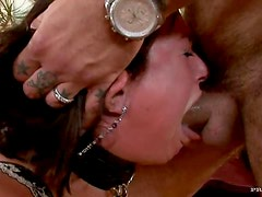 Tory Lane Deepthroats and Gets Double Penetrated In Threesome