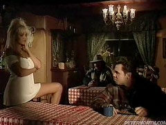 Horny blond Annabelle gets banged by a cowboy