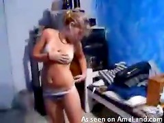 Big tit chicks getting off on each other here