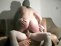 Fat Chubby Ex GF sucking cock and Fucking on the couch