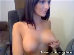 Webcam Chat With A Gorgeous Brunette And Her Big Natural Tits