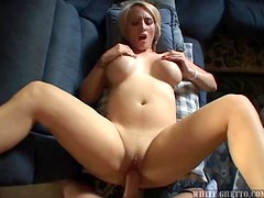 Cum and watch this lovely blonde chick getting drilled by cock