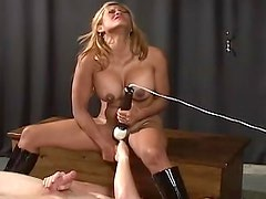 Submissive Latina BDSM play in dungeon