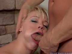 Big tits blonde whore gets fucked like mad here