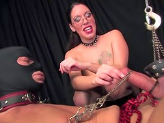 CBT with his teasing mistress