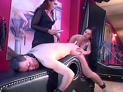Extreme femdom abuse of male submissive
