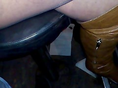 pantyhose in public bar and home