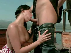 Gorgeous Anal Brunette Renata Black Gets Fucked Doggy Style Outdoors