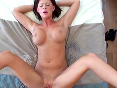 Busty Brunette Babe Bailie Stone Gets Fucked and Jizzed On Her Face