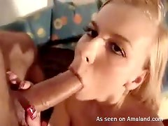 Blonde Slut Sucks Cock like a Hoe