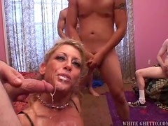 One creampie is not enough for insatiable blonde milf Chelsea Zinn