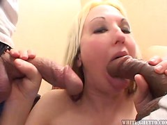 Sloppy and wrinkled cocks nailing hot blonde milf here
