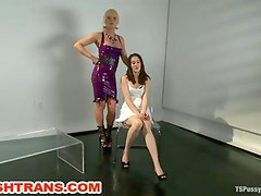 Transsexual Domination Ass and Pussy Fucking Deep Throating Blowjobs