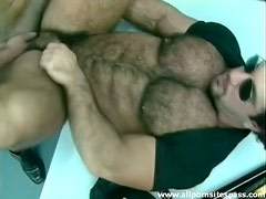 Thick hairy bear with muscular body ass fucked