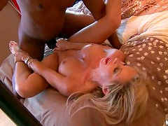 Black Guys Pick Up a Blonde MILF For Sex