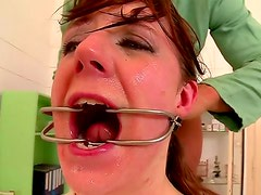 Kinky doctor abuses submissive patient